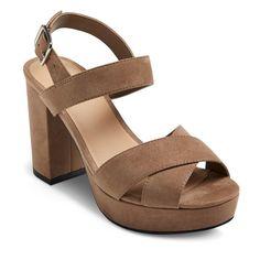 Women's Harlee Platform Heeled Sandals - Taupe (Brown) 6.5