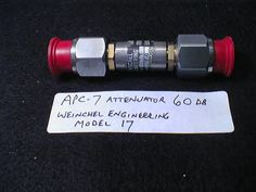 Attenuators, 60 dB Weinschel Engineering, part no. apc7-20