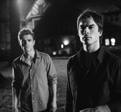 Stefan and Damon Salvatore, The Vampire Diaries. Paul Wesley and Ian Somerhalder. Sexy!!