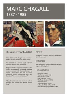Artist Info March Chagall