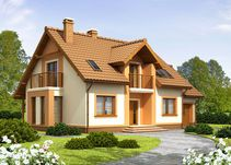 Detached house with attic and garage, intended for person family. Interior Design Living Room, Living Room Decor, Country House Plans, Design Case, Sustainable Design, Home Fashion, Detached House, Mansions, House Styles