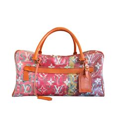 Louis Vuitton Richard Prince Le Pink Denim Defile Weekender PM Handbag   From a collection of rare vintage luggage and travel bags at https://www.1stdibs.com/fashion/handbags-purses-bags/luggage-travel-bags/