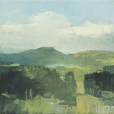 "Rich Bowman, High Mountain Breeze, 12x12"", oil on canvas."
