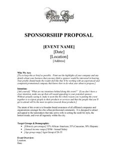 Event Sponsorship Letter Sample Sample Event Sponsorship Letter 5 Documents In Pdf Word, 40 Sponsorship Letter Sponsorship Proposal Templates, 40 Sponsorship Letter Sponsorship Proposal Templates, Sponsorship Levels, Sponsorship Letter, Fundraising Letter, Nonprofit Fundraising, Non Profit Fundraising Ideas, Cv For Teaching, Sample Proposal Letter, Proposal Writing Sample, Event Proposal Template