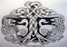 Celtic tattoos are deep in Irish tradition. Check out these Celtic tattoo designs and get some ideas for your next tat! Fenrir Tattoo, Norse Tattoo, Celtic Tattoos, Tattoo Arm Designs, Armband Tattoo Design, Lion Tattoo Design, Celtic Tribal, Celtic Art, Knot Tattoo