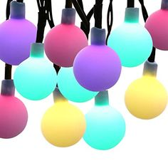 8 Modes 30 LEDs Milocos Solar LED Globe String Light 20ft Ball Fairy Light Waterproof Ambiance Lighting for Gardens Home Wedding Party Multi Color *** Check out this great product.