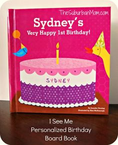 I See Me Personalized Birthday Board Book - Great 1st Birthday Gift Idea