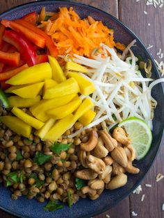Tropical Lentil Bowls with Mango and a Coconut-Lime Dressing   @sweetpeasaffron