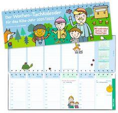 #Tischkalender für Erzieher und Erzieherinnen in Kita und Krippe sowie für Tageseltern +++ Der Wochen-Tischkalender speziell für ein Kita-Jahr beinhaltet die wichtigsten christlichen, islamischen und jüdischen #Feiertage, eine übersichtliche Zeiteinteilung, schöne Sprüche für Erzieher*innen und vieles mehr. #Planer Organisationshilfen #Kita-Jahr Comics, Products, Teacher Planner, Game Ideas, Workplace, Day Care, Cartoons, Comic, Comics And Cartoons