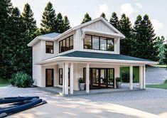 Modern Farmhouse Cabin Plan | Littleton Guest House Plans, Pool House Plans, Lake House Plans, Cottage House Plans, Small House Plans, Guest Cottage Plans, Barn Style House Plans, Garage Guest House, Cabin Plans With Loft