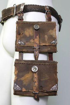Festival Fanny Pack - Bullets Belt - Survivor Holster - Hip Bag - Leather Hip Bag - Belt Bag - Messenger Bag - Protected Purse - Handbag - Classic fanny pack Designer of the project is Viola Sychowska, founder of Wasted Couture collective. Leather work is made by Konrad Radziszewski, member of Wasted Couture collective. Hip bags are simply awesome, especially the leather ones.This may perfectly complement your every creation. The bag is made from solid, 2,5mm thick leather with handmade…