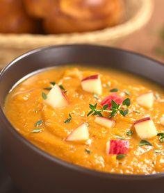 Creamy Sweet Potato Soup #healthy #recipes http://greatist.com/eat/recipes/creamy-sweet-potato-soup