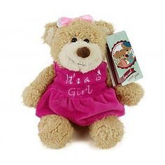 Geboortebeer 'It's a Girl', 22 cm Baby Gifts, Beren, Teddy Bear, Toys, Animals, Activity Toys, Animales, Animaux, Clearance Toys