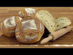Ψωμι χωριάτικο με προζύμι Poolish - YouTube Bread, Food, Youtube, Brot, Essen, Baking, Meals, Breads, Buns