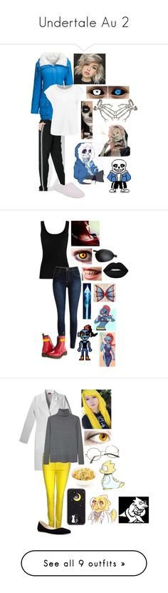 """Undertale Au 2"" by dappershadow ❤ liked on Polyvore featuring GET LOST, WithChic, Glamorous, Patricia Green, Bernard Delettrez, Masquerade, Twenty, Dr. Martens, Orciani and 7 For All Mankind"
