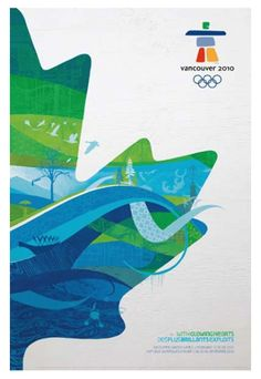 Vancouver 2010 Winter Olympic Games Official Poster Reprint - available at www.sportsposterwarehouse.com