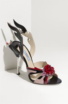 Prada 'Tail Light Flame' Sandal