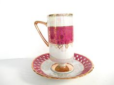Lusterware Teacup Tilso Pink Translucent by ShoppeAroundTheWorld, $18.99