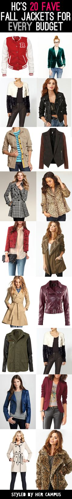 Starting to get chilly? Here are HC's 20 Fave Fall Jackets for EVERY Budget!