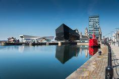 ciudad, edificios, puerto, barco, agua, arquitectura, liverpool, 1707161049