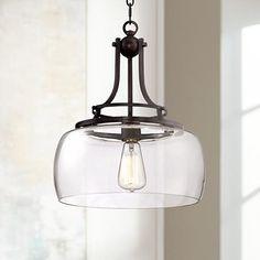 "Charleston 13 1/2"" Wide Clear Glass Pendant - #4F066 | LampsPlus.com"