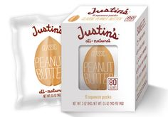 Boulder, Colo.-based Justin's, a pioneer in organic and all-natural nut butters and peanut butter cups, recently launched 80-calorie squeeze packs of its most popular nut butters: chocolate hazelnut, classic almond, classic peanut, honey peanut and maple almond.