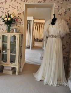 our bridal shop, The Bridal Gallery Finedon #wedding  Love the cabinet!