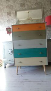 vintage / retro chest of drawers painted in Annie Sloan chalk paint