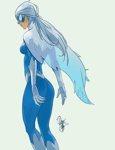 Dove by Otto Schmidt : DCcomics Dc Comics Women, Dc Comics Art, Comics Girls, Marvel Comics, Comic Book Girl, Comic Book Artists, Comic Books Art, Comic Art, Character Art
