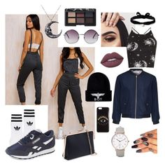 """""""Overalls and boks yo"""" by embouwer on Polyvore featuring Motel, Glamorous, NARS Cosmetics, The Horse, adidas, Reebok, Lime Crime, BOY London, Aamaya by Priyanka and Kenzo"""