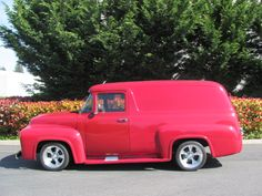 This is a 1956 Ford F-100 Panel Truck