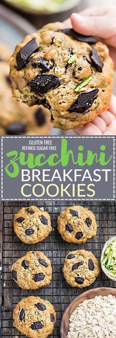 These soft and chewy flourless Zucchini Breakfast Cookies make the perfect healthy breakfast and on-the-go snack! Best of all, they're so easy to make with no mixer required. Absolutely delicious and gluten free, refined sugar free and no butter!