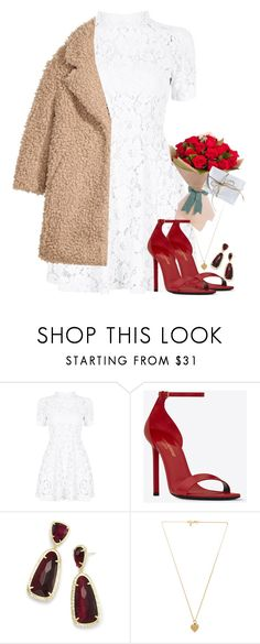 """""""Untitled #329"""" by abbeyc99 ❤ liked on Polyvore featuring Yves Saint Laurent, Kendra Scott and Vanessa Mooney"""