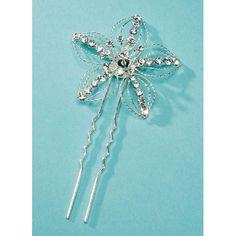 Something Blue - David Tutera - Bridal Collection - Silver 5-Petal Hair Pin, R198.00 (http://www.somethingblue.co.za/david-tutera-bridal-collection-silver-5-petal-hair-pin/)