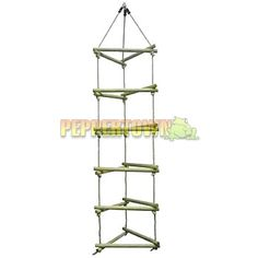 Three Sided Cubby House Rope Ladder - by PEPPERTOWN online store