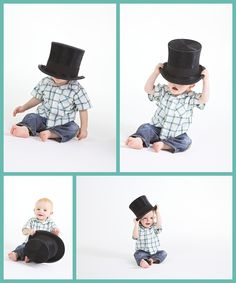 totally cute with the top hat, 1st Birthday Photoshoot, by Tracy Simpson