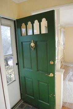 Green Front Door front porch. green front door. door knob. | my home sweet home