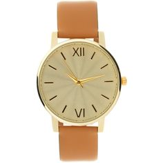 Asos Tan Leather Strap Watch