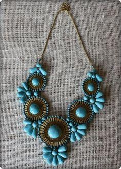 southwestern bib necklace