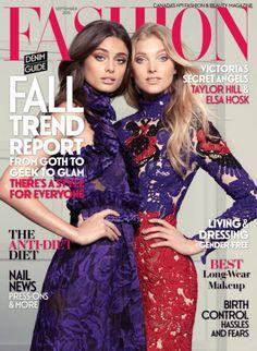Taylor Hill and Elsa Hosk for Fashion magazine, September 2015