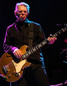 Jack Casady playing a Gold Epiphone Jack Casady Signature bass, May 2008. Photo Sam Holloway