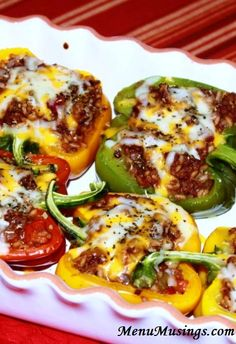 Stuffed Peppers - super simple to make, freeze well, can be made ahead of time, and carry not only a big flavor explosion, but a hefty nutritional punch as well! Step-by-step tutorial included.