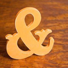 Vintage Wedding Script Ampersand handmade wood sign - Engagement. $25.00, via Etsy.