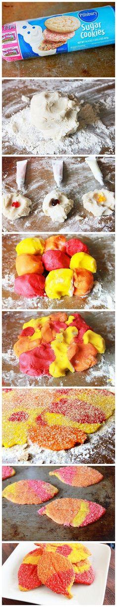 Colorful Fall Cookies - Joybx