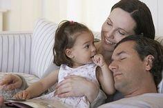Familie entspannt
