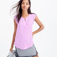 Sleeveless drapey popover shirt : tops & blouses   J.Crew