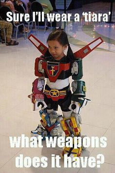 Ha that was totally me as a little kid, I was the lone girl who played X-Men and Power Rangers with the boys at recess (course I loved my tiaras too).