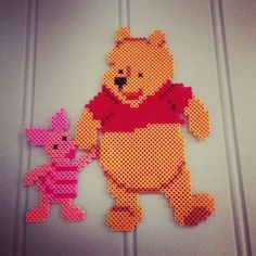 Winnie and Piglet hama perler beads by Kristin