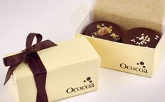 Check out Ococoa's Favor Boxes