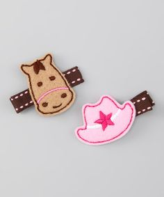 Pink Cowgirl Hat & Horse Clip Set by Feltzees on #zulily today!